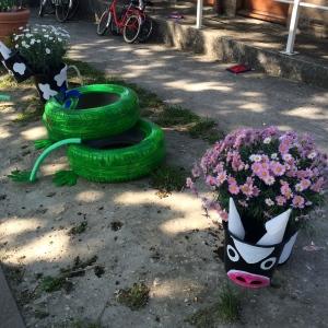 pot fleurs decores