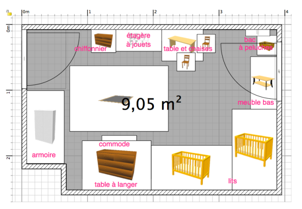 Amu00e9nager une chambre de 9m2 pour deux bu00e9bu00e9s u2013 Maman Pouce